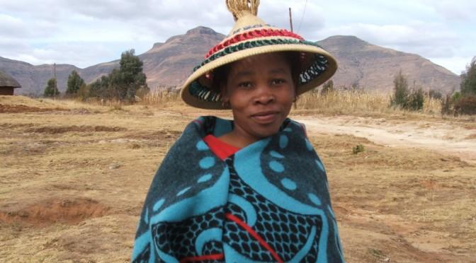Fladedækkende mønster – fra Lesotho tæppe