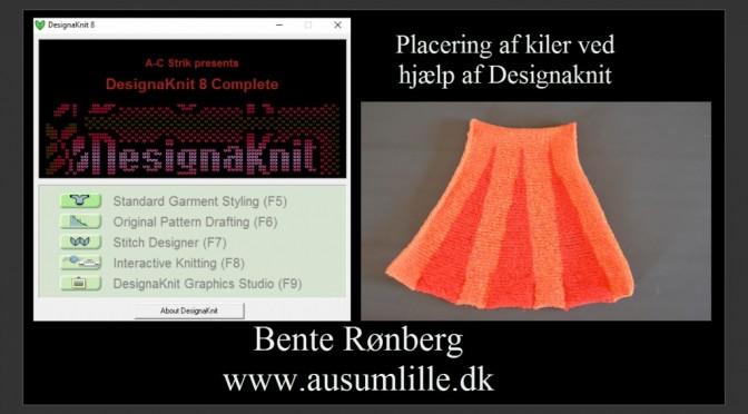 Placering af kiler med DesignaKnit