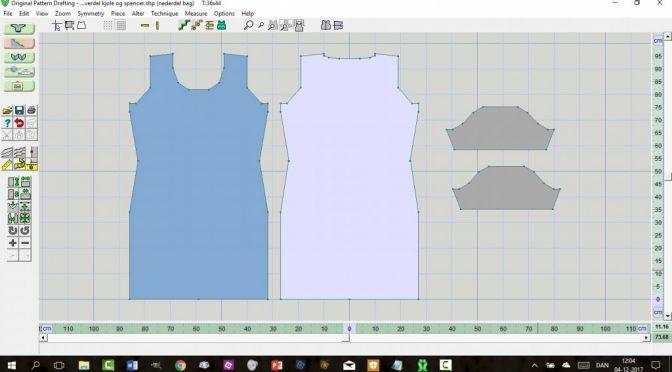 Konstruktion af kjole/spencer i DesignaKnit