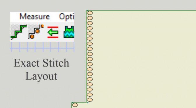 Exact stitch layout i DesignaKnit