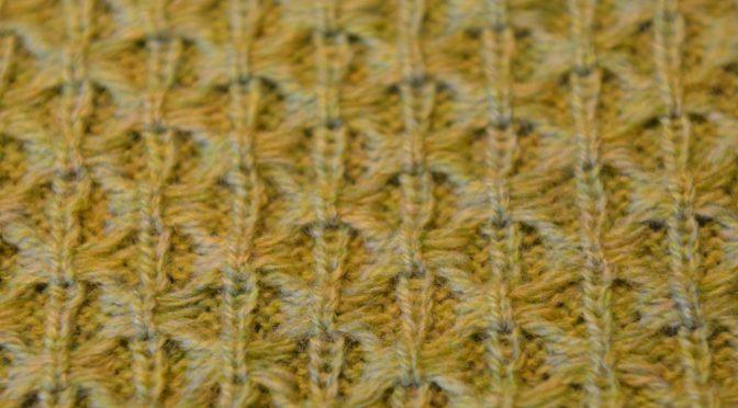 Skip Stitch med nåle på rib