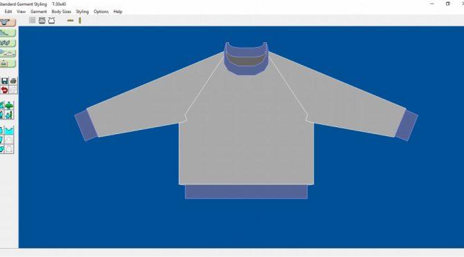 Raglan model i DesignaKnit