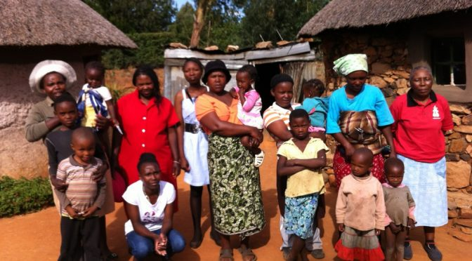 Strikkeprojekt i Lesotho
