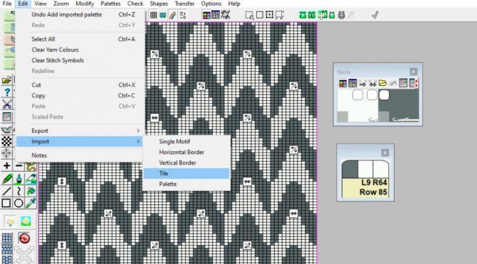 Importer fliser – nye muligheder i DesignaKnit 9