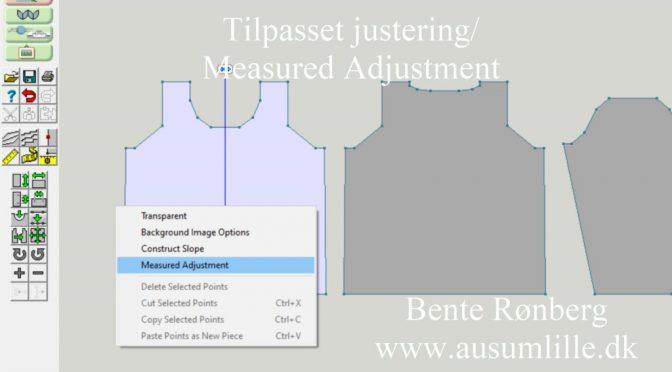 Measured Adjustment/tilpasset justering