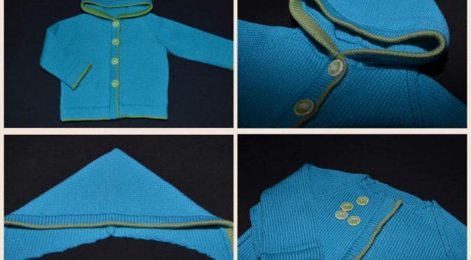 Konstruktion af hætte på babytrøje