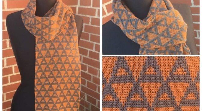 Opskrift på DBJ tørklæde med TREKANT mønster