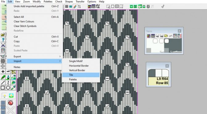 Manipulations symboler – Nyhed i DesignaKnit 9
