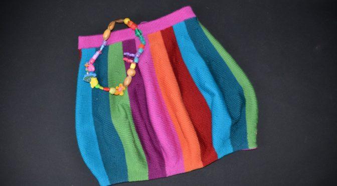 Opskrift Ballon nederdel i glade farver