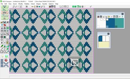 Overlapning af mønstre i flere farver