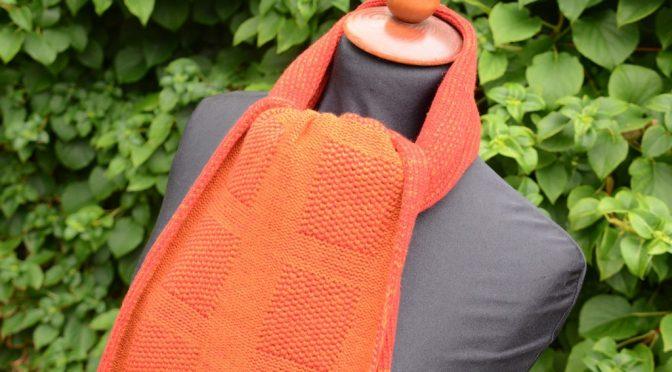 Opskrift – Tørklæde i Platin tuck